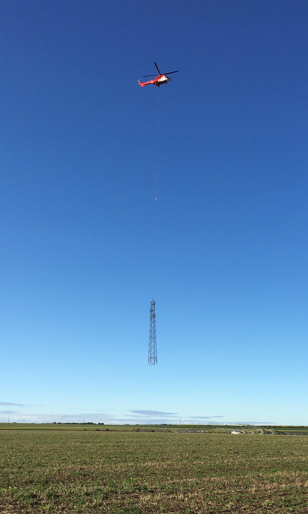Héliportage pylône