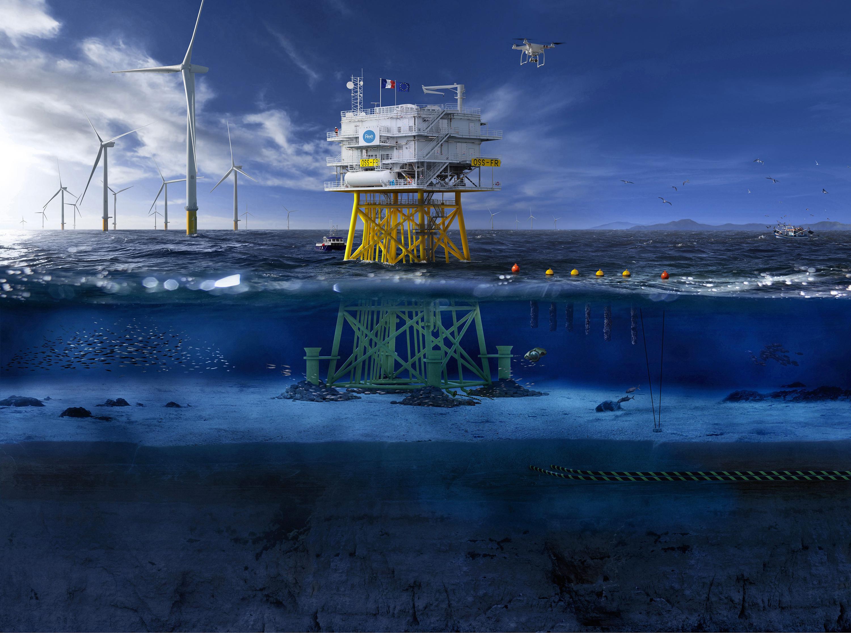 poste électrique en mer