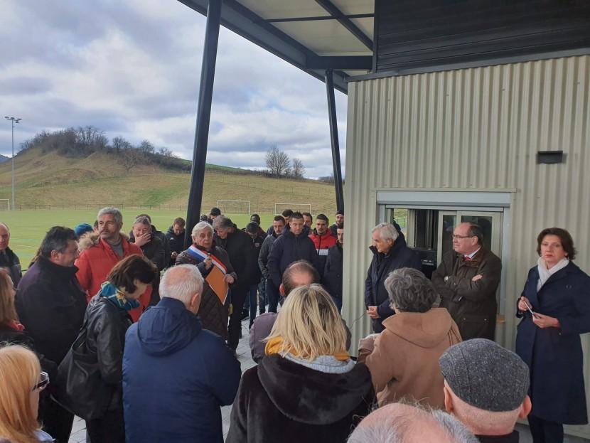 Inauguration des vestiaires rénovés du stade communal de Rosières