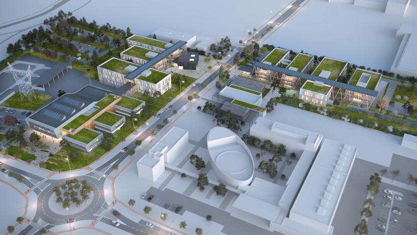 Perspective aérienne campus