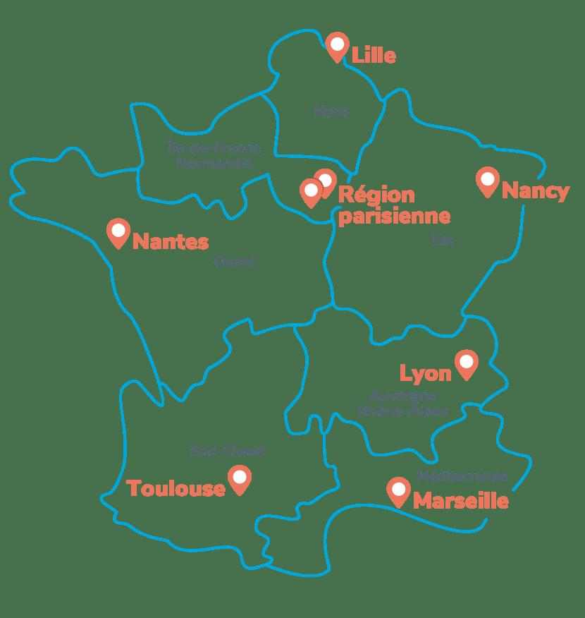 Carte des services commerciaux