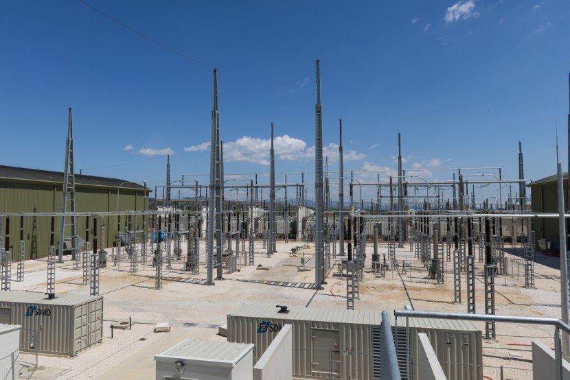 Poste électrique Baixas - zone 330 kV