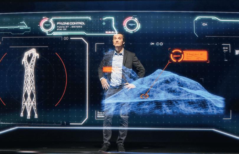 Pylône en hologramme