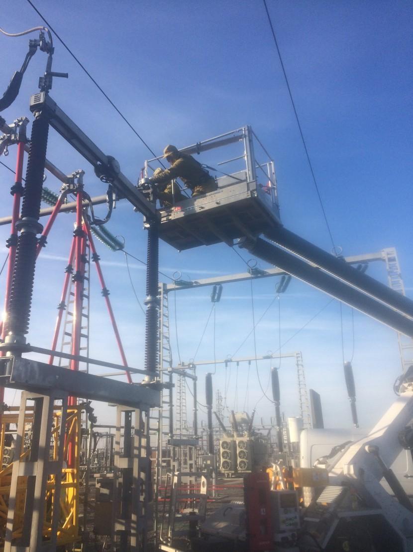Travaux sous-tension au poste électrique de famars