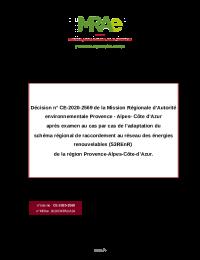 Décision MRAe CE-2020-2569 - adaptation S3REnR PACA.pdf thumbnail